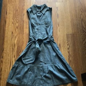 Theory Adorbs Cotton Denim Look Dress SZ8